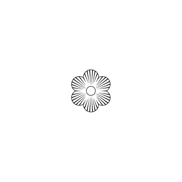 Zierscheibe B-Form
