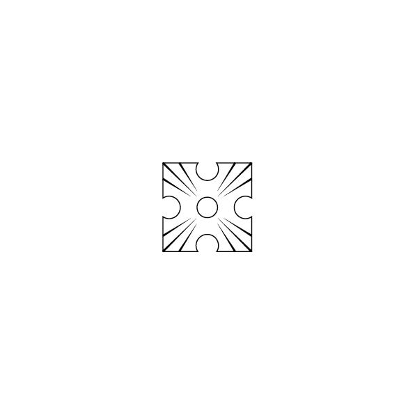 Zierscheibe D-Form